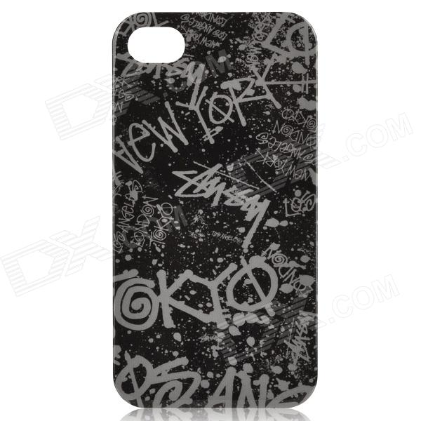 Stylish Protective Plastic Back Case with Different City Names - Black