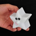 Funny Five-Pointed Star w/ Grimace LED Night Lamp - White (3 x AG13)
