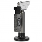 1300'C Zinc Alloy + Plastic Butane Jet Torch Lighter - Black + Silver