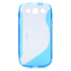 Protective Back Case with Stand Holder for Samsung Galaxy S3 i9300 - Blue
