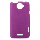 Small Holes Style Protective PE Back Case for HTC One X S720e - Purple