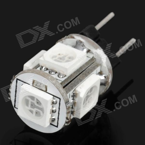 G4 1.2W 65-76LM 585-590nm Yellow 5-SMD 5050 LED Light Bulb (12V)