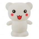 Lovely Little Bear Style LED Night Lamp - White (3 x LR44)