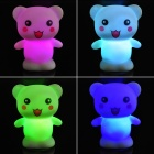 Adorável Little Bear Estilo LED Night Lamp - Branco (3 x LR44)