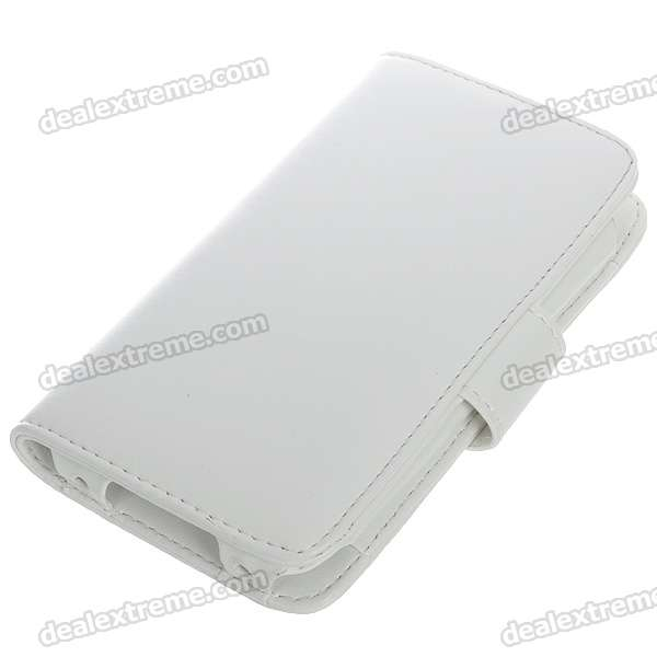 Protective Leather Flip-open Case for iPhone 3G (White)