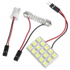 Festoon 42MM 1W 90~125LM 15x5050 SMD White LED Car Reading / Dome Lamp