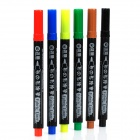 Waterproof Fabric / T-shirt Marking Pen Set (6-Piece Pack)