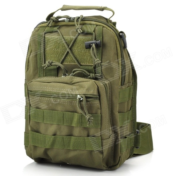 Multifunction Outdoor Travel 600D Waterproof Single-Shoulder Bag - Army Green