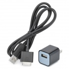 USB AC Power Adapter w/ Charging Cable for Sony PSP Go - Black (AC 110~240V / 2-Flat-Pin Plug)