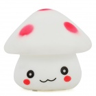 Cute Mini Mushroom Style 1-LED Night Lamp - White