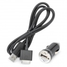 USB Car Charger w/ Data / Charging Cable for Sony PSP Go - Black (DC 12~24V)