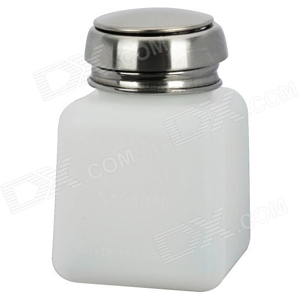 Lodestar Alcohol and Liquid Container Bottle - White + Silver (120ml)