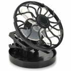 Fashion Solar Powered Cooling Fan for Hats/Caps - Black