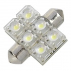 Festoon 31MM 0.9W 6xLED White Light Car Decoration Lamp