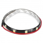 2.5W 12x5050 SMD LED White Light Car Decoration / Daytime Running Flexible Strip Lamp (12V)