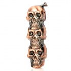Stylish LED Eyes Skull Heads Pattern Gas Lighter - Bronze (3 x LR621)