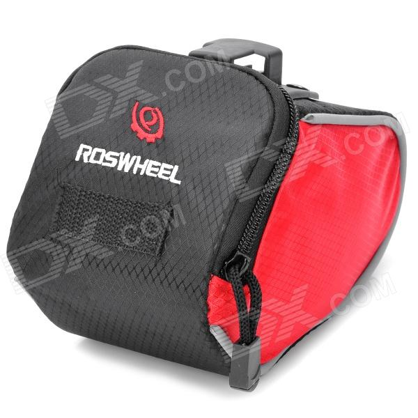Roswheel Cycling Bicycle Bike Saddle Seat Tail Bag - Red + Black roswheel mtb bike bag 10l full waterproof bicycle saddle bag mountain bike rear seat bag cycling tail bag bicycle accessories