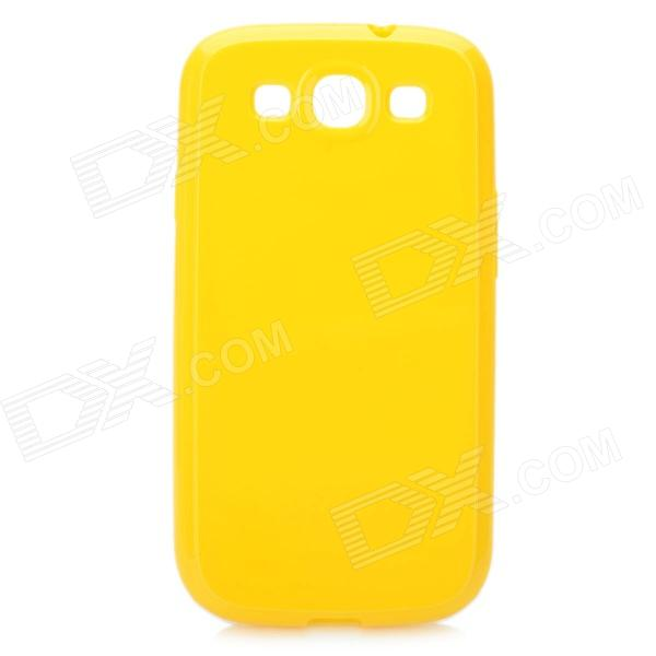 Stylish Protective TPU Back Case for Samsung Galaxy S3 i9300 - Yellow