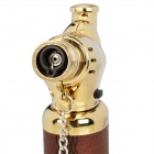 Seat Style Windproof Butane Torch Lighter - Brown + Golden