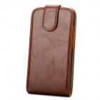 Stylish Protective PU Leather Case for HTC One X - Brown