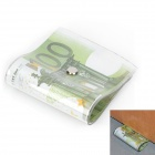 Creative 100 Euro Note Style Door Stopper Guard - Green + White