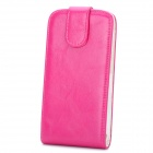 Stylish Protective PU Leather Case for HTC One X - Deep Pink