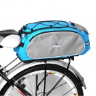 Bicycle Rear Luggage Rack Carrier Bag - Black + Grey + Blue