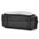 Polyester Bicycle Rear Back Luggage Carrier Bag - Black + Grey