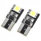 T10 0.72W 2-5050 SMD LED 40LM White Light Car Reading / Clearance Lamp (2-Piece Pack)