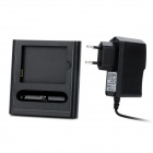 Charging Docking Station w/ Battery Charger + USB Cable + Charging Adapter for Samsung i9100 - Black