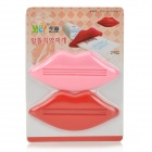 Lip Style Toothpaste Tube Squeezer Extrusion Device - Red + Pink (2-Piece Pack)