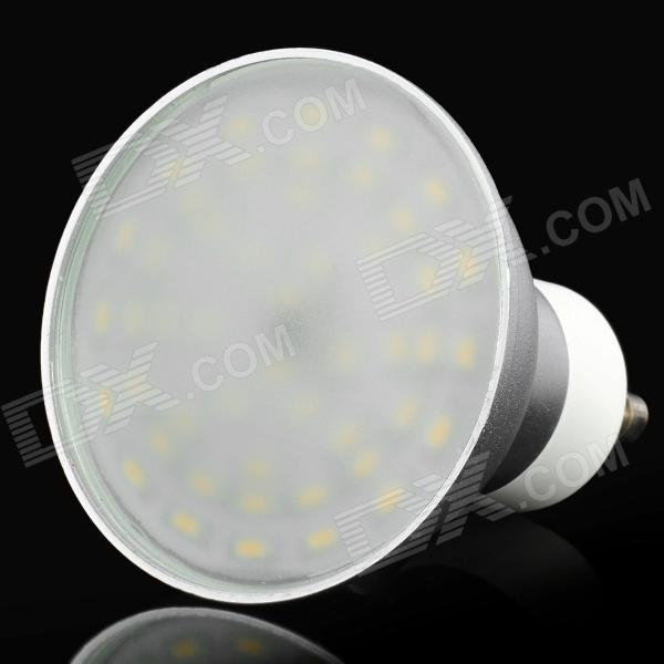 GU10 4W 400-450LM 3000-3200K Warm White 48-LED Spot Light Bulb Lamp - Silver + White 5pcs e27 led bulb 2w 4w 6w vintage cold white warm white edison lamp g45 led filament decorative bulb ac 220v 240v