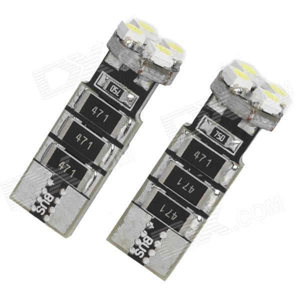 T10 2W 32LM 4x3528 SMD LED White Light Car Clearance Lamps (2-Piece Pack)