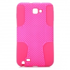 Mesh Style Protective Back Case for Samsung Galaxy Note i9220 - Deep Pink