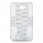 Mesh Style Protective Back Case for Samsung Galaxy Note i9220 - White