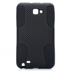 Mesh Style Protective Back Case for Samsung Galaxy Note i9220 - Black
