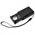 21mm / 12mm 30X / 60X LED Magnifier - Black