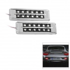 SR-3084 Waterproof 1.5W 12xPiranha LED Red Light Car Brake Lamp (12V / 1-Set)