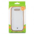 Rechargeable 3500mAh External Power Battery Back Case for Samsung Galaxy S3 i9300 - White