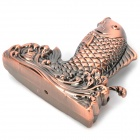 Stylish Carp Shaped Yellow Flame Butane Lighter - Bronze (4 x LR621)