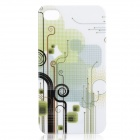 Fantasy Abstraction Pattern Protective Plastic Back Case for Iphone 4 / 4S - White + Green
