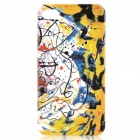 Fantasy Abstraction Pattern Protective Plastic Back Case for iPhone 4 / 4S - Yellow + Black