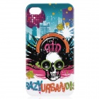 Fantasy Abstraction Skull Pattern Protective Plastic Back Case for Iphone 4 / 4S - Black + Blue