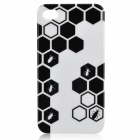 Stylish Football Style Protective Plastic Case for iPhone 4 / 4S - White + Black