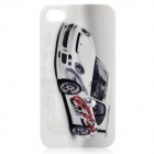 Fantasy Abstraction Roadster Pattern Protective Plastic Back Case for Iphone 4 / 4S - White