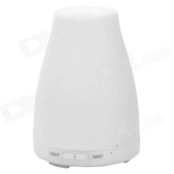 Ultrasonic Aroma Diffuser Humidifier w/ 3-LED - White (130ml)
