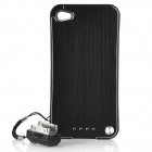1800mAh Mobile External Backup Power Battery Charger Case for iPhone 4 / 4S - Black + Silver