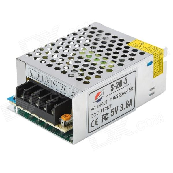 все цены на  5V 3.8A Regulated Switching Power Supply - Silver (110~220V)  онлайн