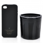 Vertical Wireless Charger with Charging Protective Case + AC/Car Charger for iPhone 4 / 4S - Black