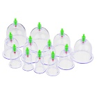 Chinese Medical Plastic 12-Cup corpo Cupping Set - Branco